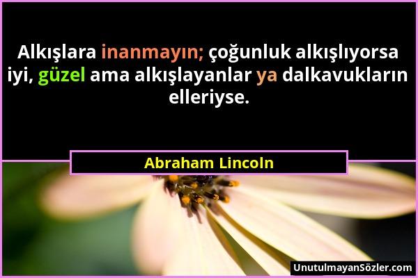 Abraham Lincoln Sözü 1
