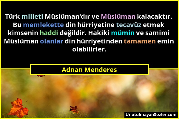 Adnan Menderes Sözü 19