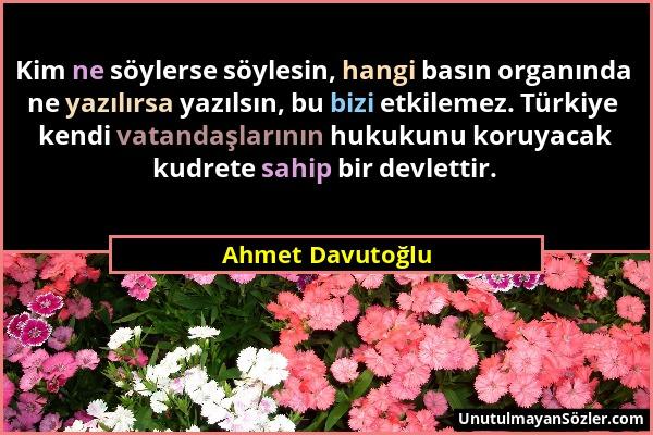Ahmet Davutoğlu Sözü 1