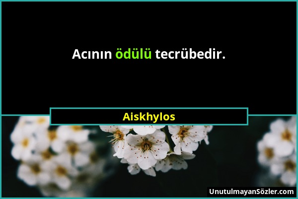 Aiskhylos Sözü 1