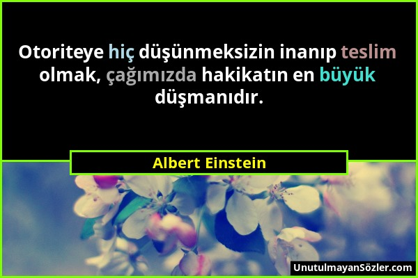 Albert Einstein Sözü 131