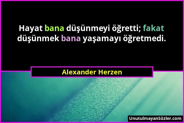 Alexander Herzen Sözü 1