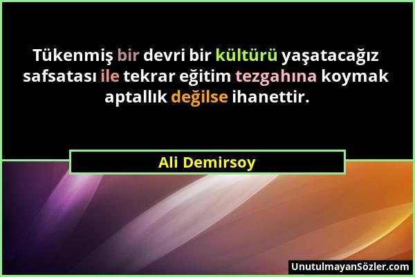 Ali Demirsoy Sözü 20
