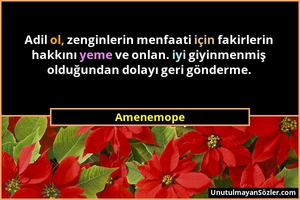 Amenemope Sözü 1