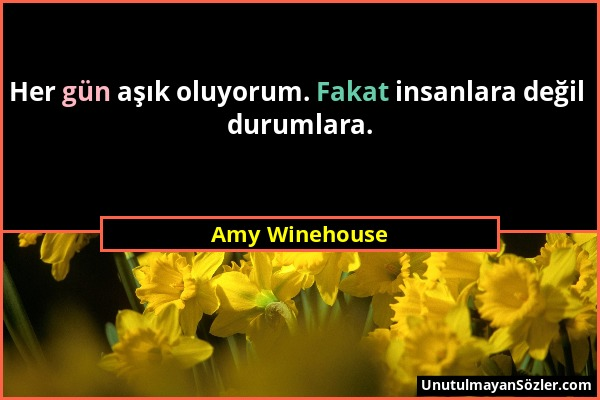 Amy Winehouse Sözü 1