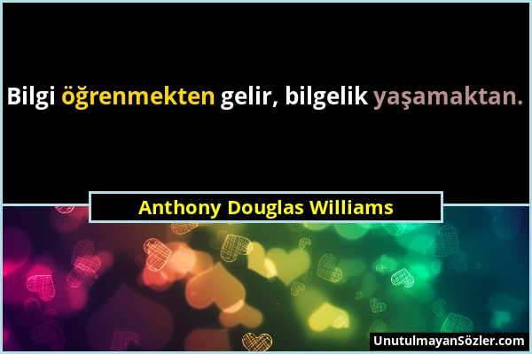 Anthony Douglas Williams Sözü 1
