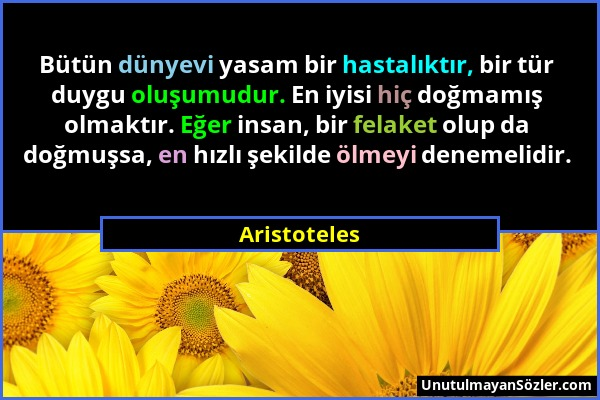 Aristoteles Sözü 14