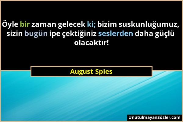 August Spies Sözü 1