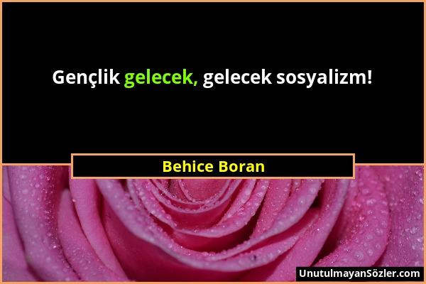 Behice Boran Sözü 1