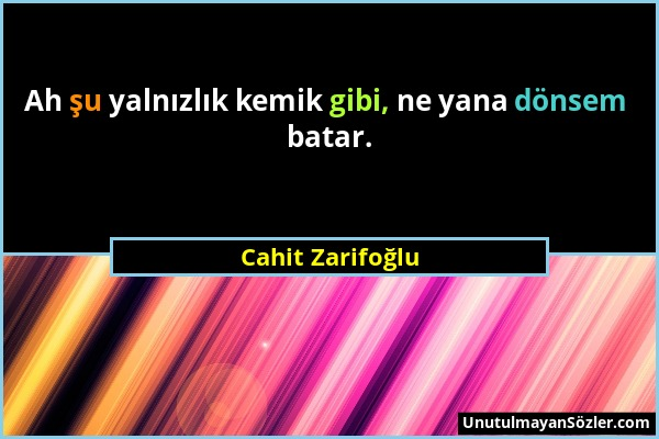 Cahit Zarifoğlu Sözü 1