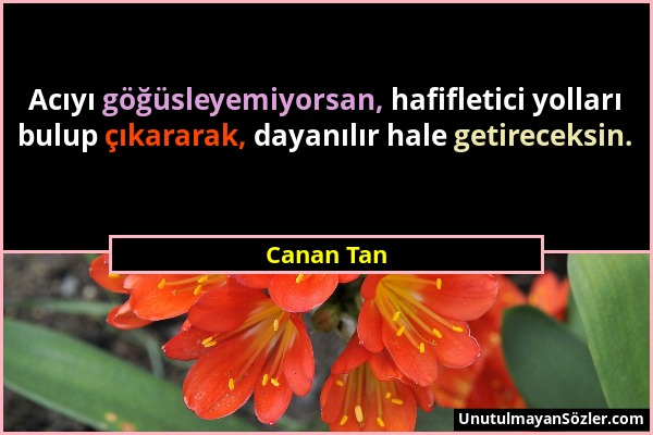 Canan Tan Sözü 1