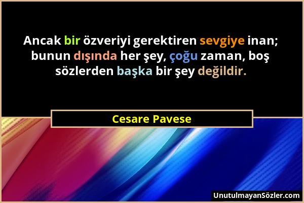 Cesare Pavese Sözü 1