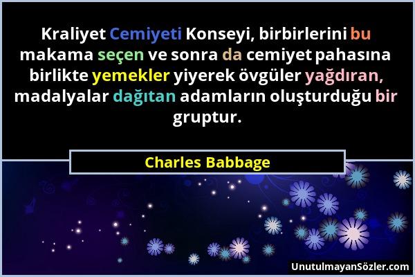 Charles Babbage Sözü 1
