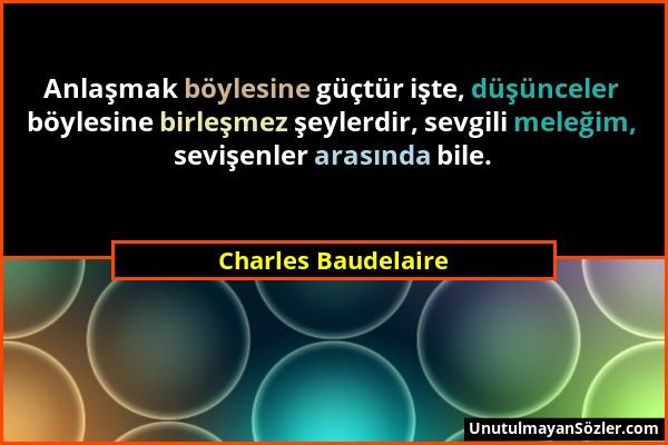 Charles Baudelaire Sözü 1