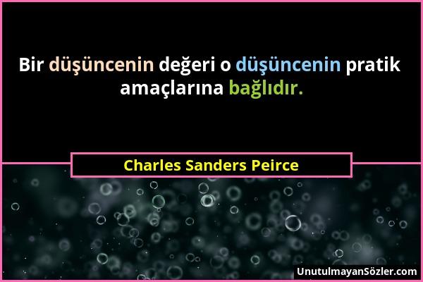 Charles Sanders Peirce Sözü 1