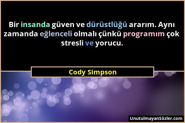 Cody Simpson Sözü 1