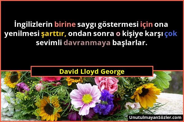 David Lloyd George Sözü 1