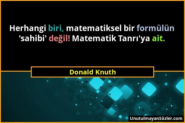 Donald Knuth Sözü 1