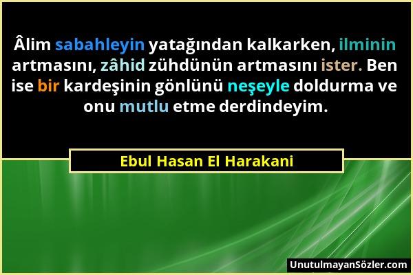 Ebul Hasan El Harakani Sözü 1