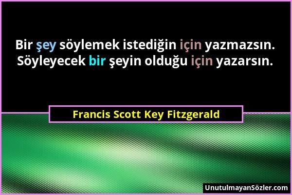 Francis Scott Key Fitzgerald Sözü 1