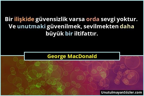 George MacDonald Sözü 1