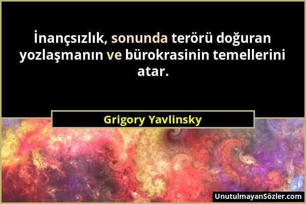 Grigory Yavlinsky Sözü 1