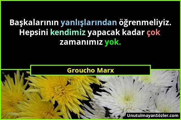 Groucho Marx Sözü 1