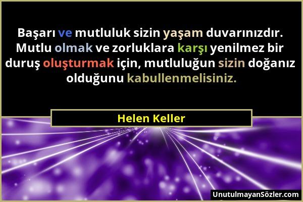 Helen Keller Sözü 1