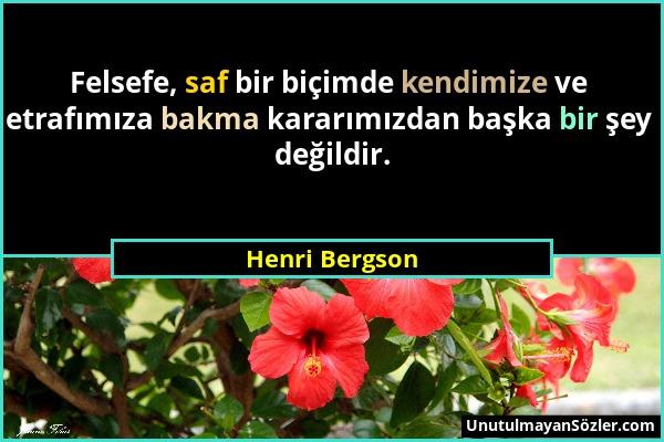 Henri Bergson Sözü 1
