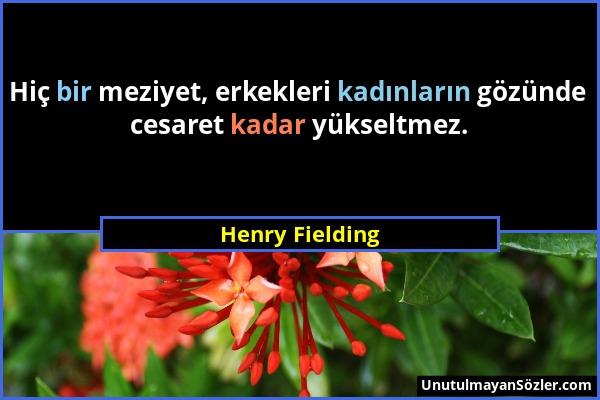 Henry Fielding Sözü 1