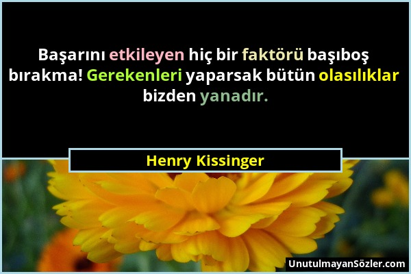 Henry Kissinger Sözü 1