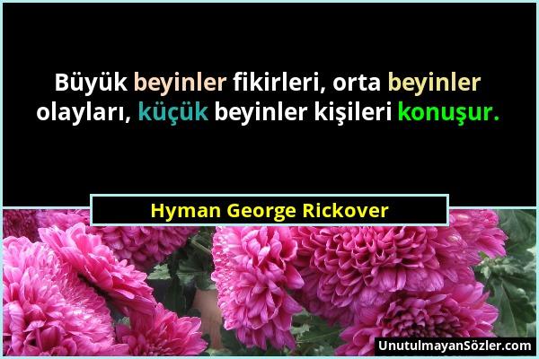 Hyman George Rickover Sözü 1