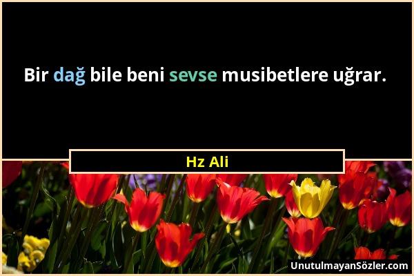 Hz Ali - Bir dağ bile beni sevse musibetlere uğrar....