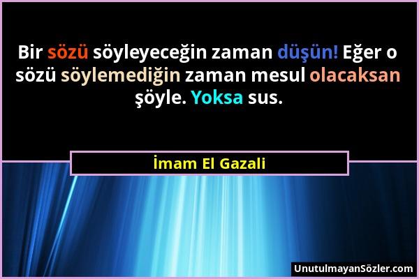 İmam El Gazali Sözü 6