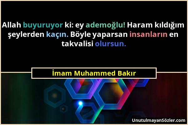 İmam Muhammed Bakır Sözü 1