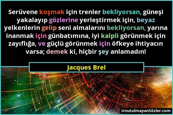 Jacques Brel Sözü 1