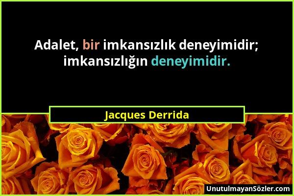 Jacques Derrida Sözü 1