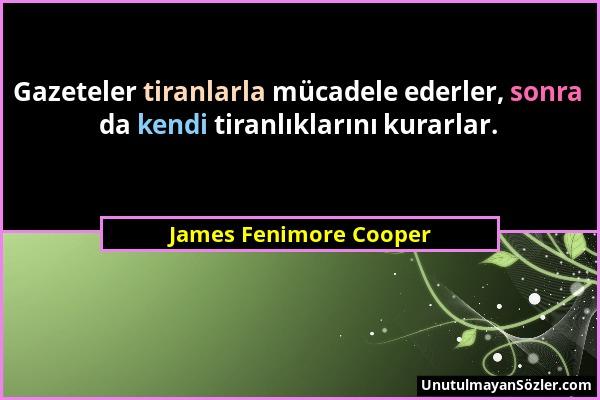 James Fenimore Cooper Sözü 1