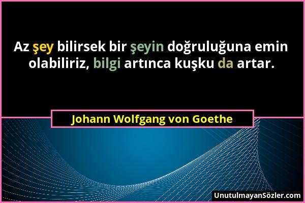 Johann Wolfgang von Goethe Sözü 27
