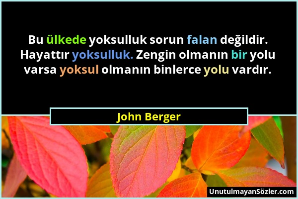 John Berger Sözü 1