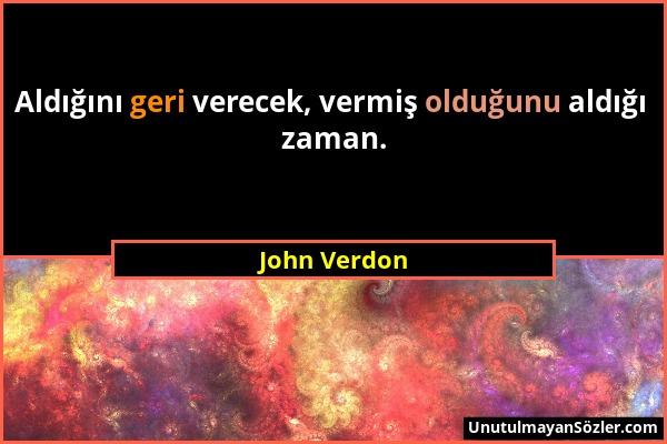 John Verdon Sözü 1