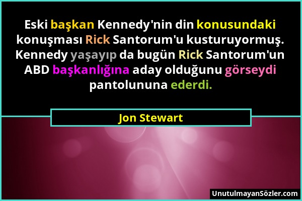 Jon Stewart Sözü 1