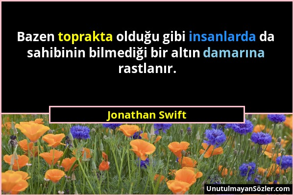 Jonathan Swift Sözü 1
