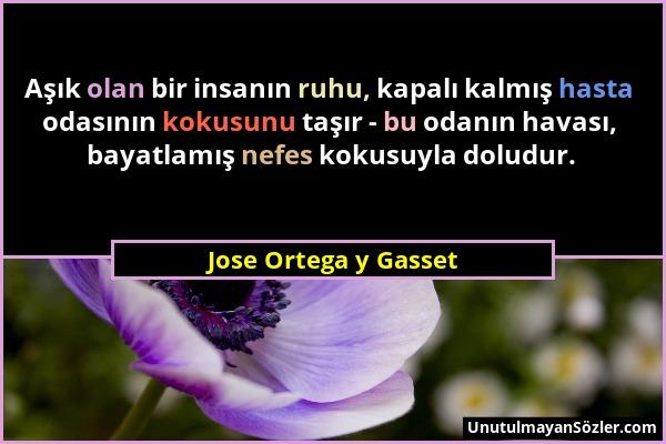 Jose Ortega y Gasset Sözü 1
