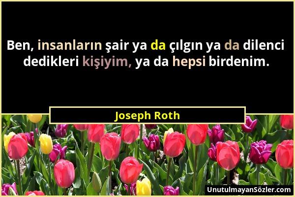 Joseph Roth Sözü 1