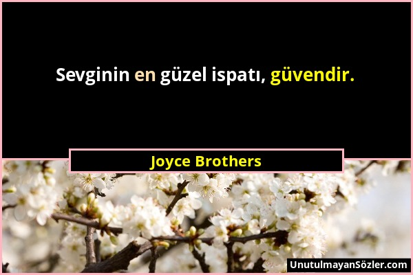 Joyce Brothers Sözü 1