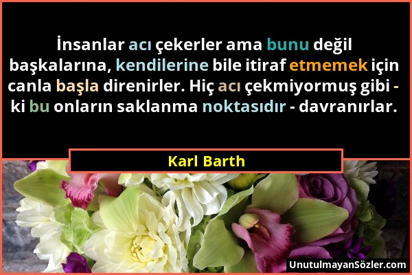 Karl Barth Sözü 1