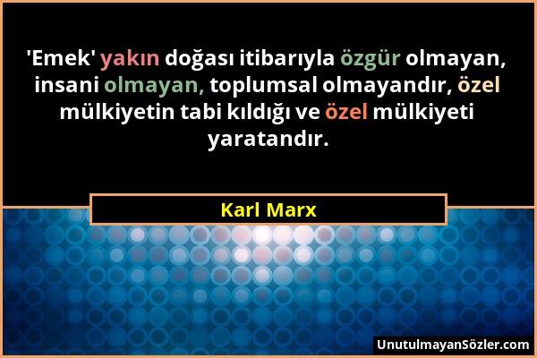 Karl Marx Sözü 1