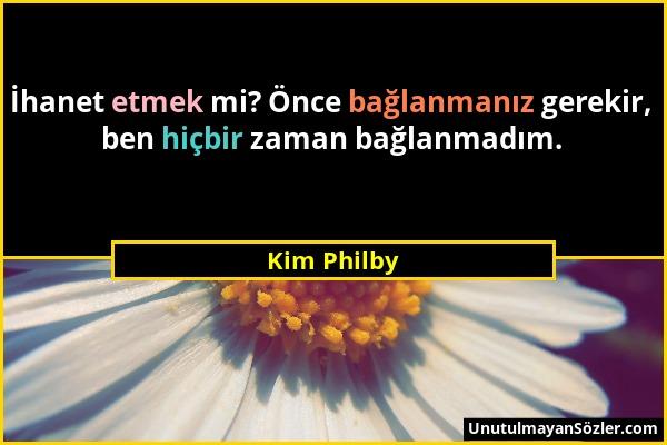Kim Philby Sözü 1