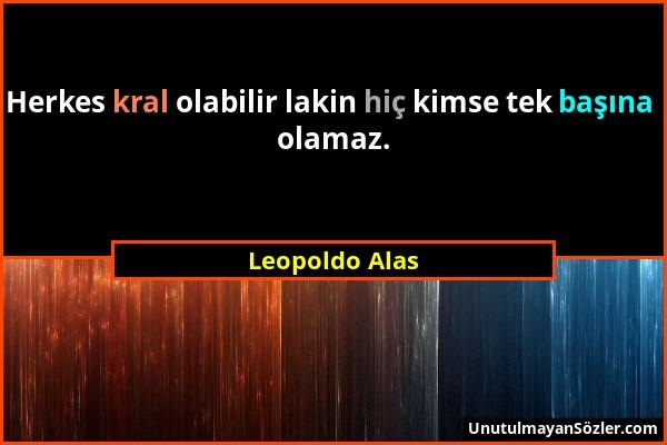 Leopoldo Alas Sözü 1